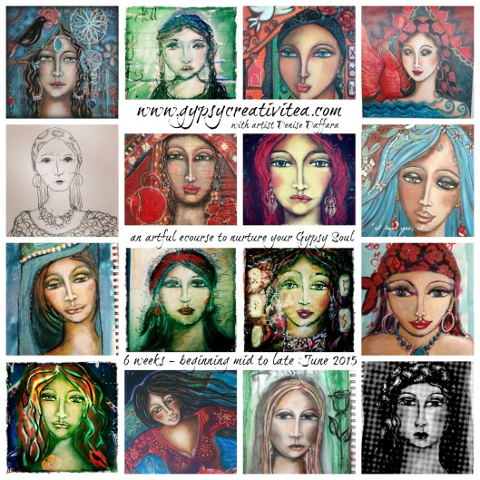 Gypsy faces by Denise Daffara
