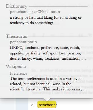 penchant