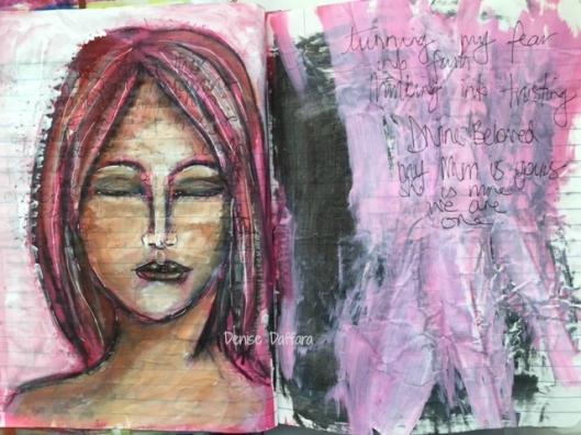 aj pink page sadness